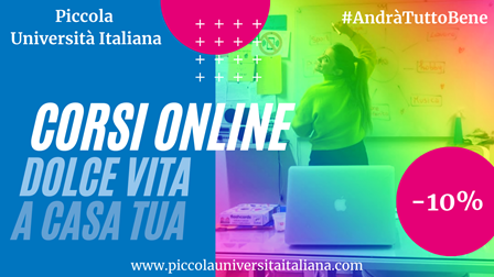 Learn Italian online with Piccola Universita Italiana!