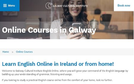 Learn English Online in Ireland or from home with Galway Cultural Institute
