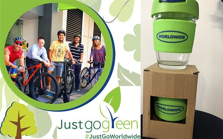 Students at Worldwide School of English raise awareness about the use of eco-friendly cups