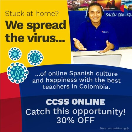 Learn Spanish online with Centro Catalina Cartagena Spanish School - special offer