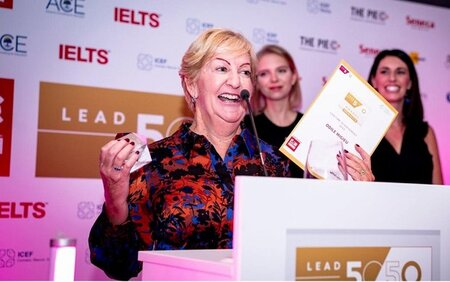 Odile Migieu, Founder of IALC language school ACET in Cork listed a top leader in 2020