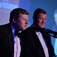 Andrew Hjort and Justin Quinn at the IALC 2015 Rouen Gala Dinner