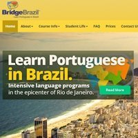 New website for Portuguese language school BridgeBrazil