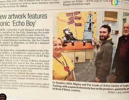 IALC school ACET in Cork showcases city to students through art